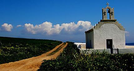 une route perdue à Paros