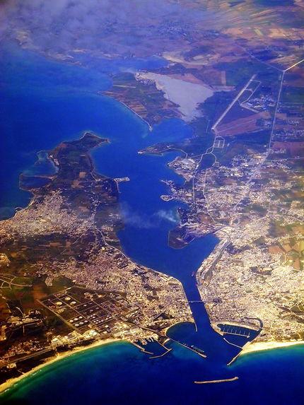 Cagliari, vue aérienne