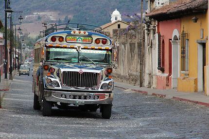 Sur les routes chaotiques d'Antigua, Guatemala