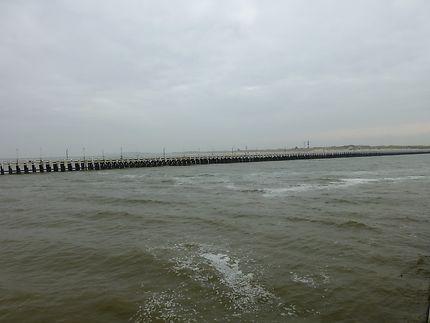 Mer et ciel gris