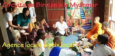 Présentation des circuits en Birmanie le Myanmar