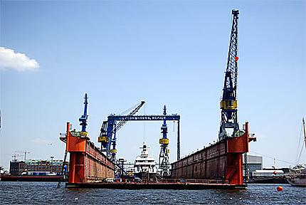 Un dock flottant