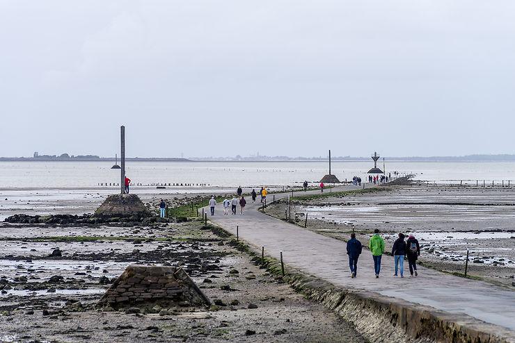 Passage du Gois (île de Noirmoutier, Vendée)