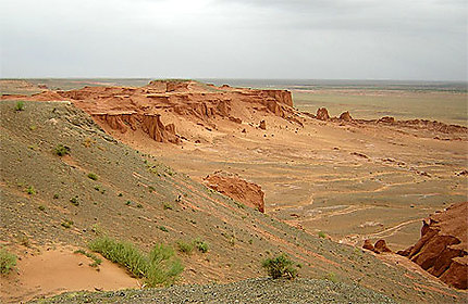 Site de Bayanzag en mongolie