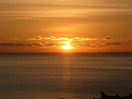 Couché de soleil en Martinique