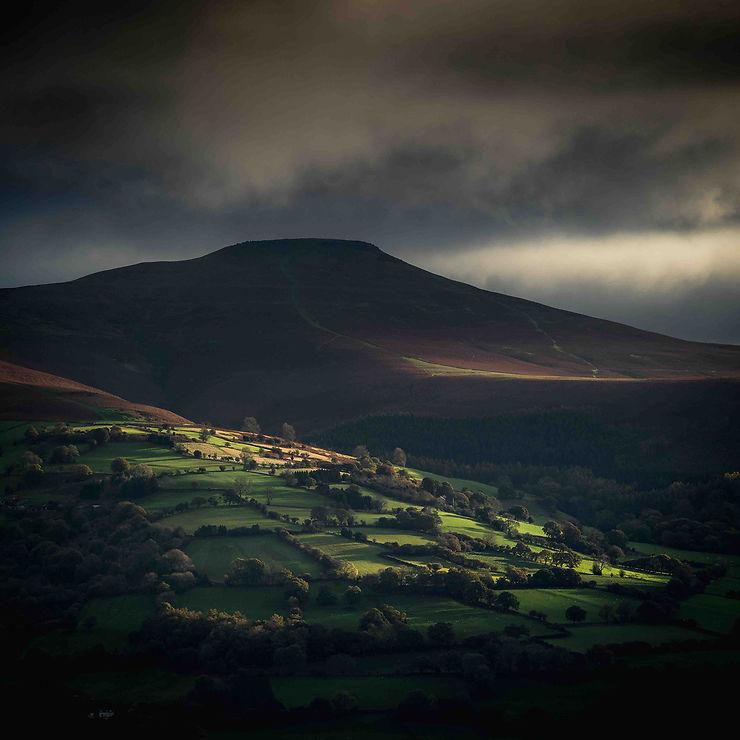 Montagne Sugar Loaf, Brecon Beacons, Pays de Galles