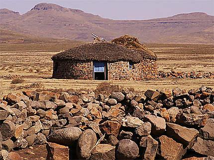 Maison de bergers au Lesotho