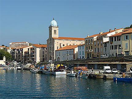 Port -Vendres vu du port