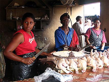 Les boucheries du marché