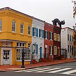 Maisons colorées à Georgetown