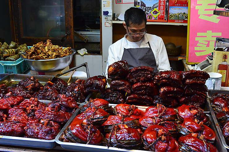 Street food à Zhujiajiao, Chine