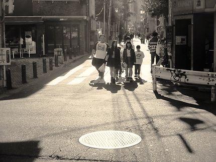 Scène de rue à Tokyo