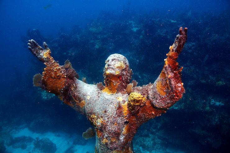 Récifs, coraux et hôtel sous-marin
