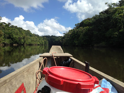 En route sur le fleuve Kourou