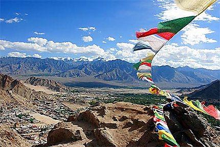 Panorama depuis le monastère de Leh