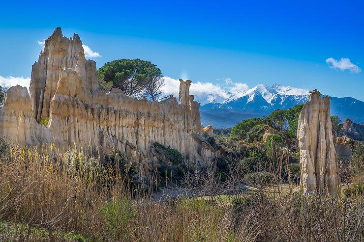 Les Orgues d'Ille-sur-Têt dans les Pyrénées-Orientales... on dirait la Cappadoce !