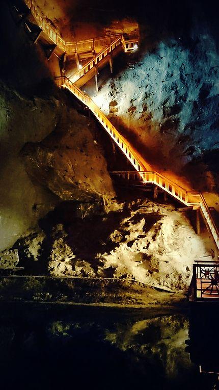 Escaliers sous terrain