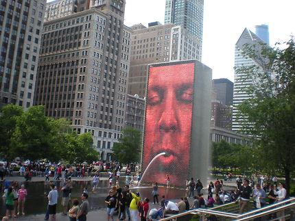 Chicago Crown Fountain - Millennium Park - Loop