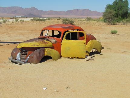 Vers les dunes du désert du Namib