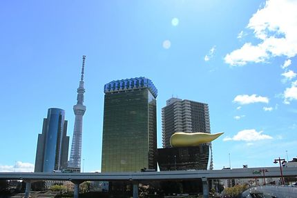 Sumida city - Musée de la bière Asahi et Toky