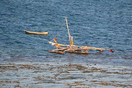 Pirogue sur l'Océan Indien