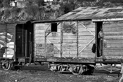 Squatte dans les wagons à Fianarantsoa