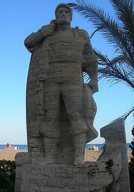 Pescador de la plage de Calafell