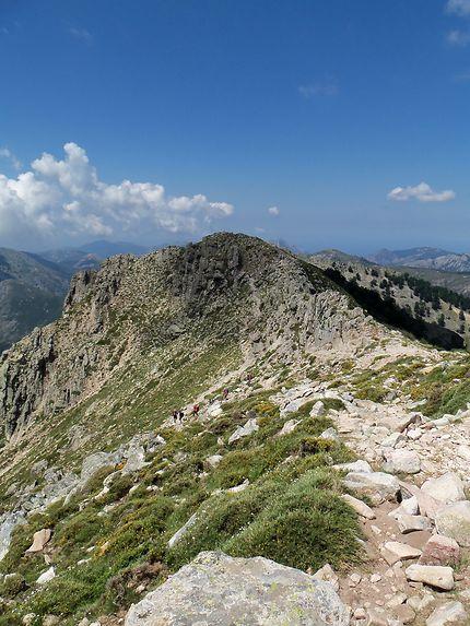 Sentier randonnée GR20 Lac de Nino