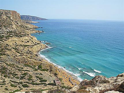 Red beach à Matala