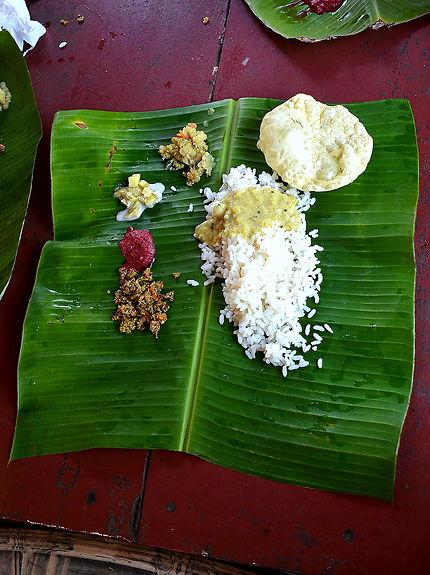 Repas typique du Kerala, Inde