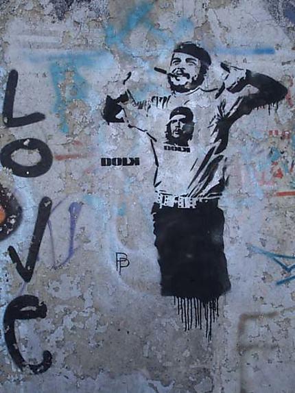 Le Che sur le mur de Berlin
