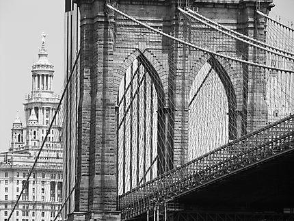 Zoom sur le Pont de Brooklyn