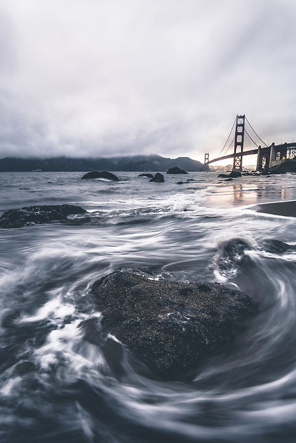 "Golden Gate Bridge depuis ""Marshall's beach"""