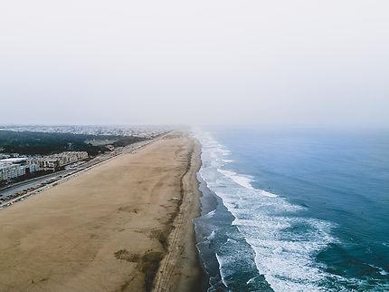 Ocean Beach vue du ciel