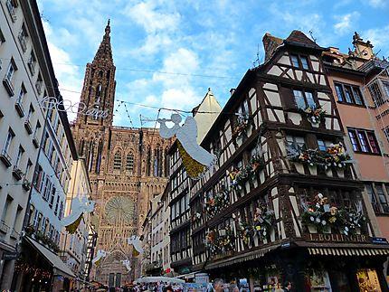 Décorations de Noël à Strasbourg et Cathédrale
