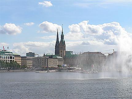 Hambourg lac de l'Alster