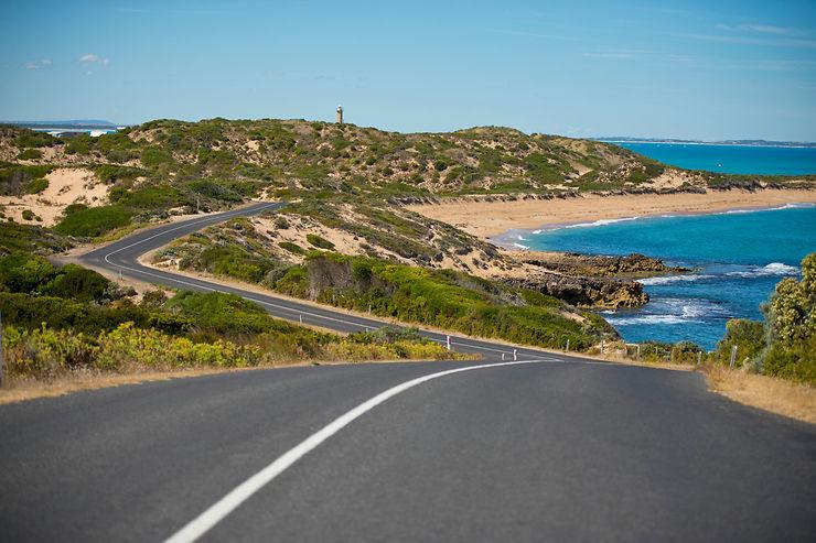 Southern Ocean Drive, route côtière d'Adélaïde à Melbourne