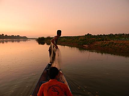 Pêche traditionnelle au Laos