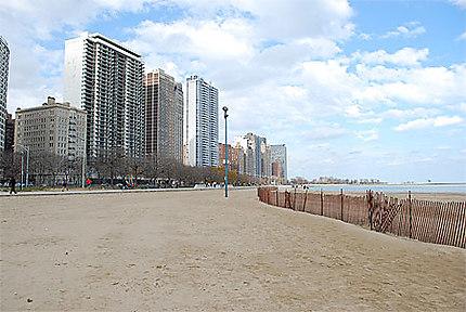 La plage à Chicago