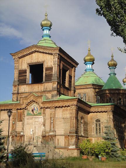 Eglise orthodoxe à Karakol au Kirghizistan