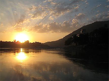 Coucher de soleil Rishikesh