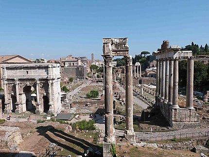 Vue sur le Forum romain du Musée du Capitole