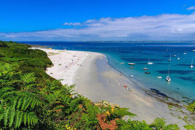Plage des Grands Sables et Tahiti Beach, île de Groix, Morbihan