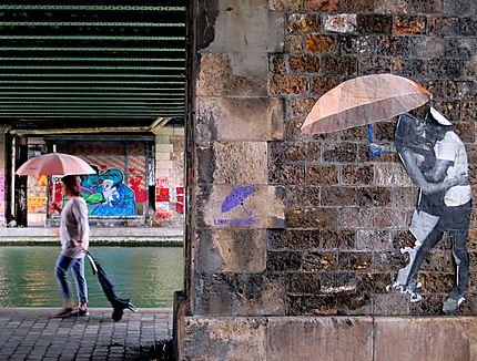Les parapluies roses