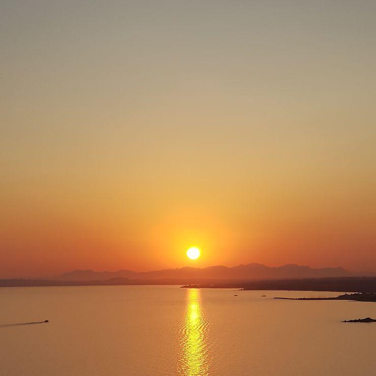 Coucher de soleil à Terra Mala, Sardaigne