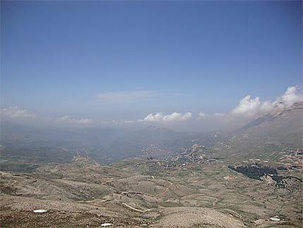 Vue panoramique de la vallée de Qadisha