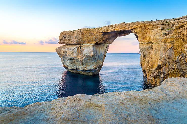 Malte - Effondrement de l'Azure Window, la Fenêtre d'azur, à Gozo
