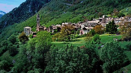 Soglio en Suisse
