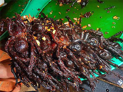 Araignées grillées