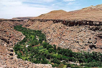 Maroc haut Atlas. Rivière verte.